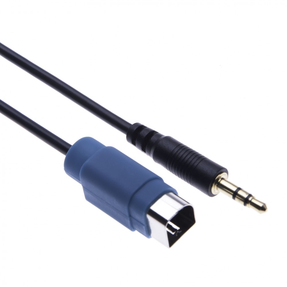 Alpine KCE-237B 3.5mm Aux Jack Stereo Adaptor for Alpine iXA W404R / W407BT, IDA X303 / X301 / X305 / X311 / X313 / X301RR + HQRP a