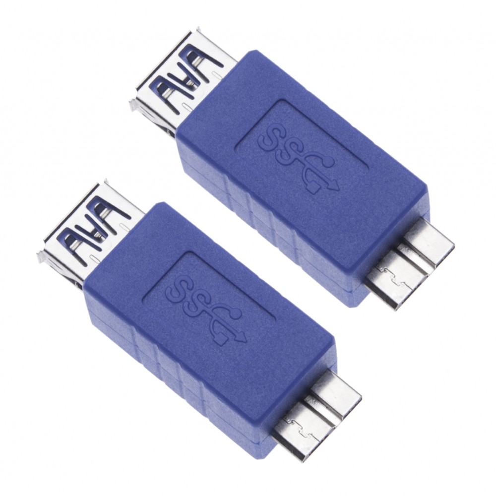 2 Pieces USB 3.0 Female to Micro B Male Adapter for Computers, Laptops, External Hard Drives a