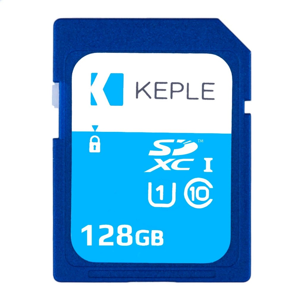 128GB SD Memory Card by Keple | High Speed SD Card for HD Videos & Photos | 128 GB Storage Class 10 UHS-I U1 SDXC