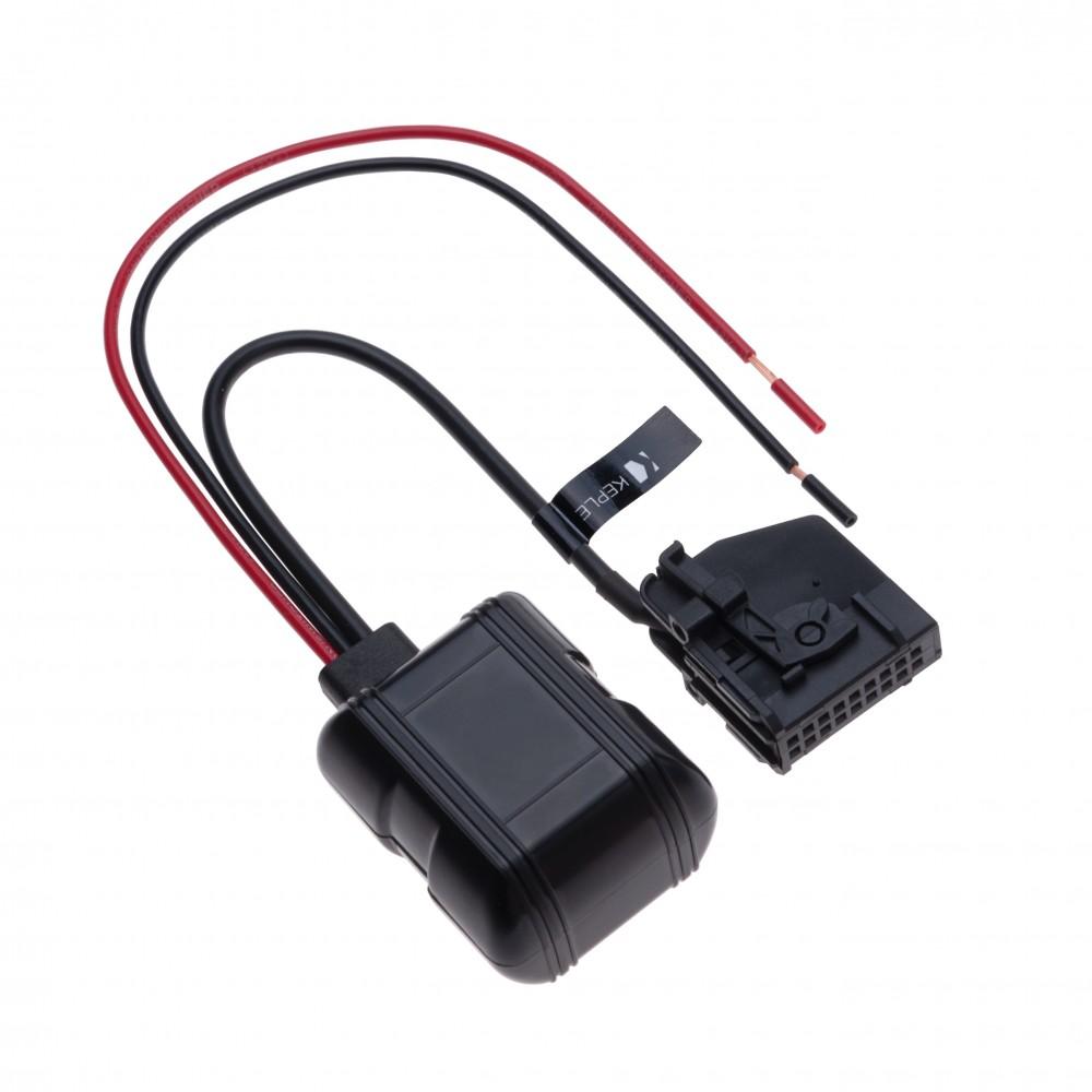 18 Pin 12V input to Bluetooth Music Interface MP3 Audio Adapter Compatible with Mercedes-Benz  W168, W202, W203, W208, W209, W211, W461, W463, W163, W164, R129, R170 | Reveiver Transmiter Connector Replacement Cord
