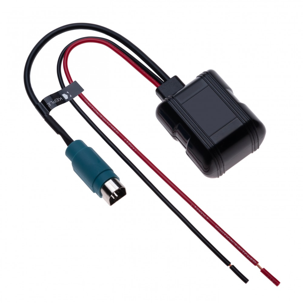 Alpine Bluetooth 10 pin Music Interface Audio Cable Aux-IN Adapter Mp3 Lead to Connect Samsung Galaxy, HTC ONE, Huawei, Sony Xperia, Lumia, LG, MP3 Player to your Car Radio iDA-X200   12V