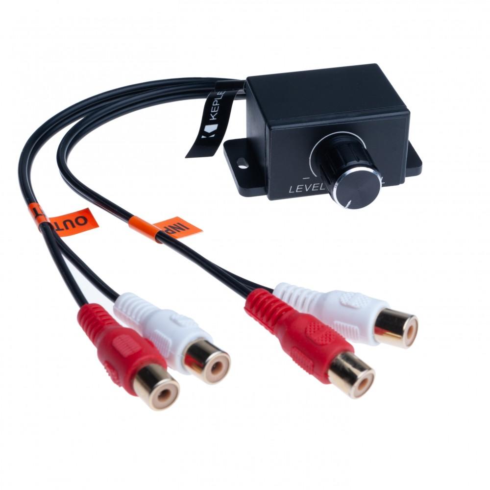 Universal Car Audio Amplifier Bass RCA Level Remote Volume Control Knob   Compatible with Audi BMW Fiat Ford Honda Hyundai Mazda Mini Mitsubichi Nissan Scion Smart Subaru Toyota Volvo Vauxhall VW