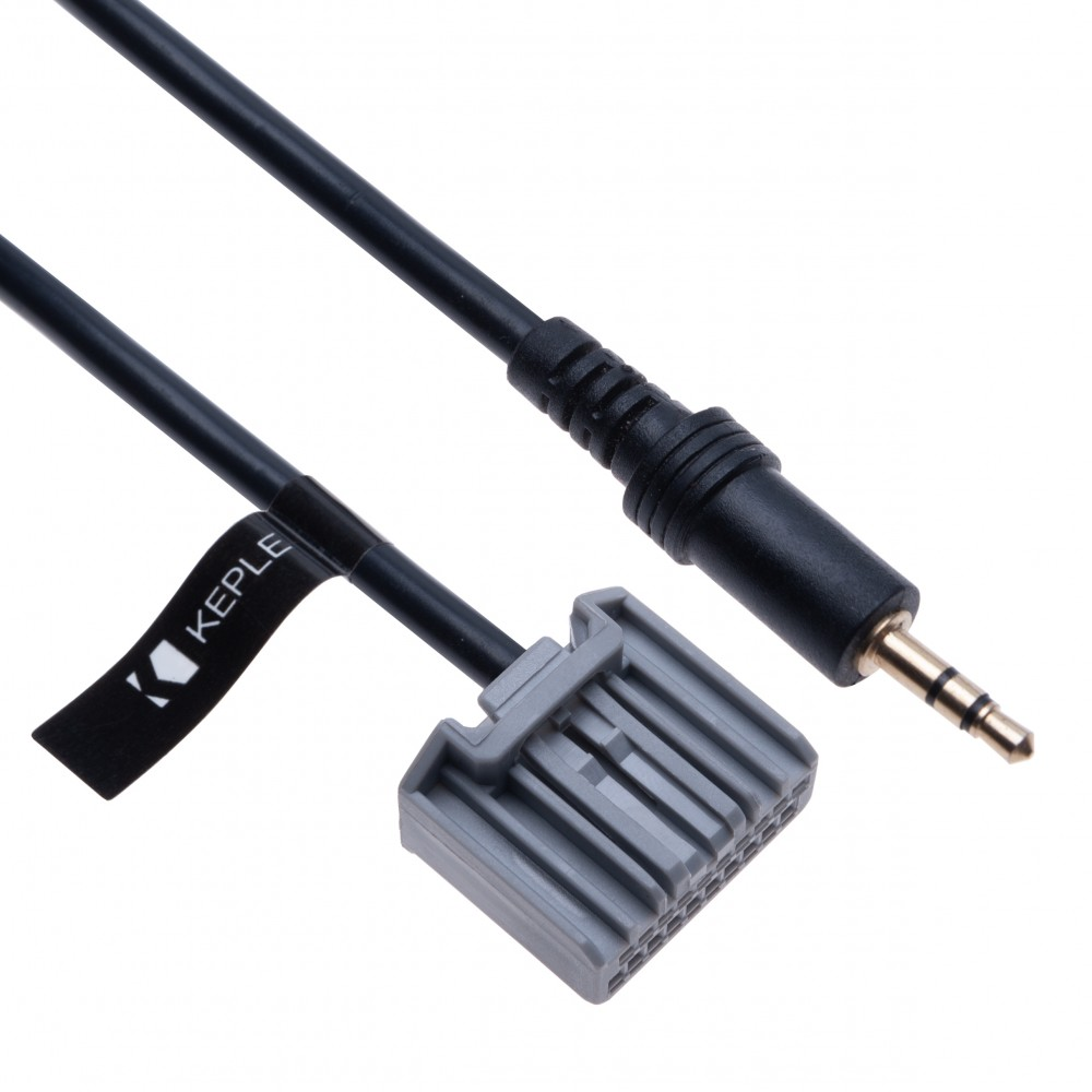 AUX Input Audio Cable Adapter Compatible with Honda Accord Civic CRV vehicle Navigation GPS Nav  3.5 mm 20 pin Radio Male Interface Cord Lead connector   1.5m