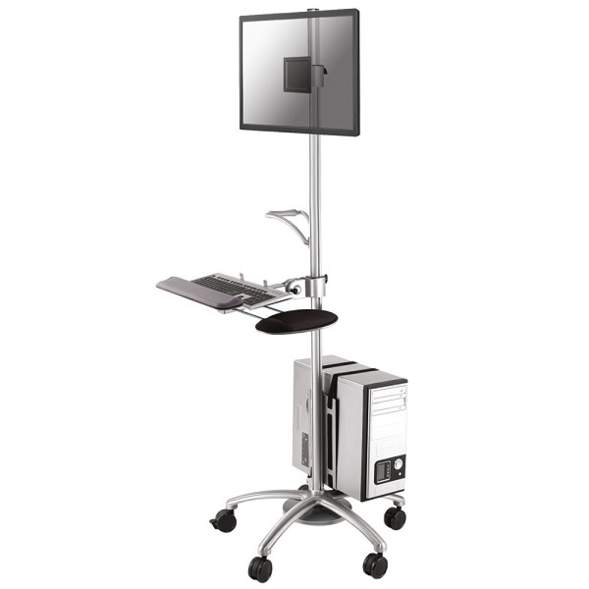 Newstar Mobile Workplace Floor Stand Trolley 10 27 Quot 1