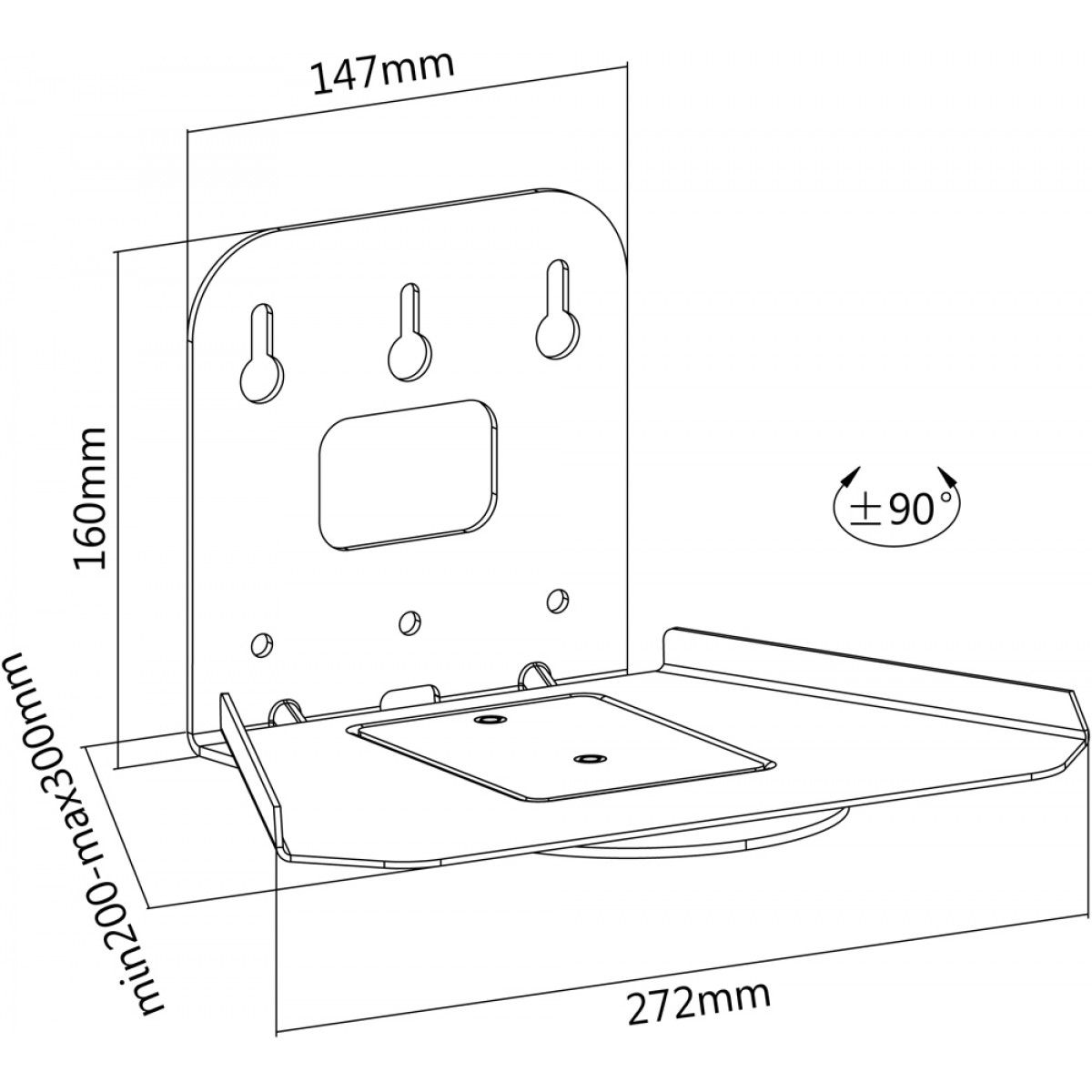 Newstar Neomounts Nm Ws500white Wall Mount For Speakers White Sonos Wiring Diagram Play5 Speakerwall A