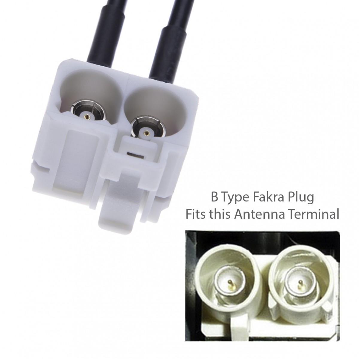 Dual Fakra Car Antenna Adapter for 3rd Generation Radios in VW Volkswagen  Golf 5 / 6 / Passat / EOS / Jetta / Touareg RCD, RNS310, RNS, MFD Radio