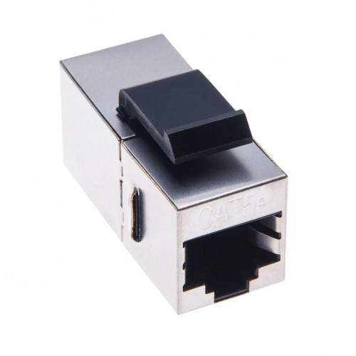 RJ45 Coupler Adaptor Powerline RJ45 Female In Line Cat5e Jack Splitter Connector for STP Cat5, Cat 5e Ethernet LAN Patch Network Cable Extension & Keystone Wall Faceplate | Metal Housing a