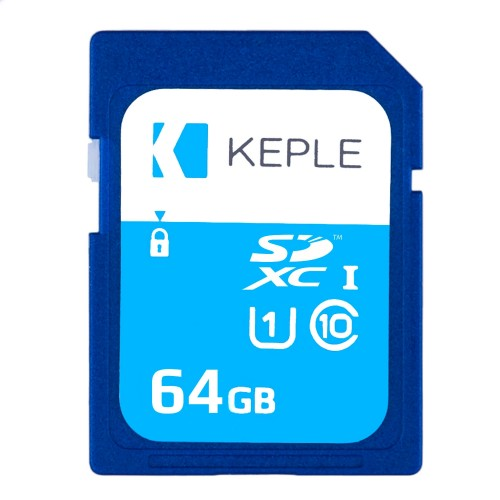 64GB SD Memory Card by Keple | High Speed SD Card for HD Videos & Photos | 64 GB Storage Class 10 UHS-I U1 SDHC