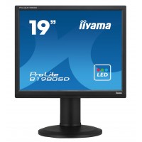 Iiyama Prolite B1980SD-B1 19 LED LCD  5:4 Black TN, 5ms, 1 x VGA, 1 x DVI-D, Pivot, Swivel, Tilt, Speakers a