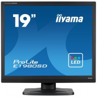 Iiyama Prolite E1980SD-B1 19 LED LCD  5:4 Black TN, 5ms, 1 x VGA, 1 x DVI-D, Speakers a