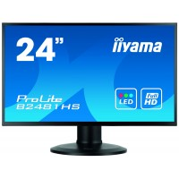 LED monitor - 24 - 1920 x 1080 Full HD - VA - 250 cd/m2 - 3000:1 - 6 ms - HDMI, DVI-D, VGA - Speakers - Black a