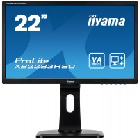 "Iiyama ProLite XB2283HSU-B1DP - LED monitor - 22 (21.5"" viewable) - 1920 x 1080 Full HD (1080p) - VA - 250 cd/m² - 3000:1 - 5 ms - DVI-D, VGA, DisplayPort - speakers - black a"