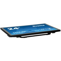 "Iiyama ProLite T2435MSC-B2 - LED monitor - 24 (23.6"" viewable) - touchscreen - 1920 x 1080 Full HD (1080p) - VA - 250 cd/m² - 3000:1 - 6 ms - HDMI, DVI-D, DisplayPort - speakers - black a"