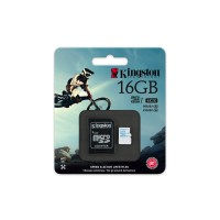 Kingston - Flash memory card ( microSDHC to SD adapter included ) - 16 GB - UHS Class 3 / Class10 - microSDHC UHS-I a