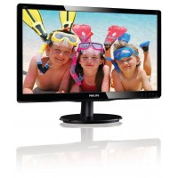 PhilIPS 220V4LSB/00 22, 16.1, V-Line, Black, Glossy Finish, w-led, 1680x1050, TN, 170/160 Viewing Angle CR:10, 250 cd/m2, 1000:1, 5ms, 100x100 VESA, Tilt: -5/+20, VGA / DVI-D, Internal PSU, 2 years Warranty a
