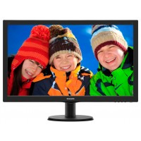 PhilIPS 273V5LHSB/00 27'', 16.9, V-Line, Black, Texture Finish, w-led, 1920x1080, TN, 170/160 Viewing Angle CR:10, 300 cd/m2, 1000:1, 5ms, Headphone out, 100x100 VESA, Tilt: -5/+20, VGA / 1x HDMI, Internal PSU, 2 years Warranty a