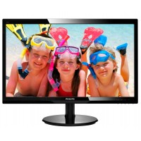 PhilIPS 246V5LSB/00 24, 16.9, V-Line, Black, Texture Finish, w-led, 1920x1080, TN, 170/160 Viewing Angle CR:10, 250 cd/m2, 1000:1, 5ms, 100x100 VESA, Tilt: -5/+20, VGA / DVI-D, Internal PSU, 2 years Warranty a