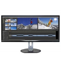 Philips BDM3470UP - LED monitor - 34 - 3440 x 1440 QHD - AH-IPS - 320 cd/m² - 1000:1 - 5 ms - HDMI, DVI, DisplayPort, VGA - speakers - black a