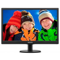 PhilIPS 203V5LSB26/10 19.5, 16.9, V-Line, Black, Texture Finish, w-led, 1600x900, TN, 90/50 Viewing Angle CR:10, 200 cd/m2, 600:1, 5ms, 100x100 VESA, Tilt: -5/+20, VGA, Internal PSU, 2 years Warranty a