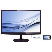 Philips E-line 227E6EDSD - LED monitor - 21.5 - 1920 x 1080 Full HD (1080p) - ADS-IPS - 250 cd/m² - 1000:1 - 5 ms - HDMI, DVI-D, VGA, MHL - glossy cherry black a