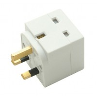 SMJ TW2UAD Type G (UK) Type G (UK) White power plug adapter a