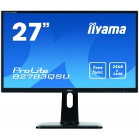B2783QSU-B1 LED monitor - 27 - 2560 x 1440 QHD - TN - 350 cd/m2 - 1000:1 - 1 ms - HDMI, DVI-D, DisplayPort - Speakers - Black a