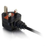 C2G 17 AWG 250 Volt 16 Amp Power Cable - Power cable (250 VAC) - BS 1363 (M) - IEC 320 EN 60320 C19 (F) - 2 m - moulded - black - United Kingdom a