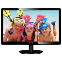 "Philips V-line 200V4LAB2 - LED monitor - 20 (19.5"" viewable) - 1600 x 900 - 200 cd/m² - 600:1 - 5 ms - DVI-D, VGA - speakers - textured black, glossy black a"