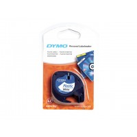 DYMO LetraTag Tape 12mm Plastic White a