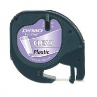 DYMO LetraTag Tape 12mm Plastic Transparent a
