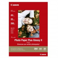 Canon Photo Paper Plus II PP-201 - Glossy photo paper - A4 (210 x 297 mm) - 260 g/m2 - 20 sheet(s) a