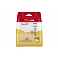Canon CLI-521 Y - 2936B001 - 1 x Yellow - Ink tank - For PIXMA iP3600,iP4700,MP540,MP550,MP560,MP620,MP630,MP640,MP980,MP990,MX860,MX870 a
