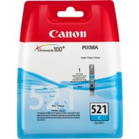 Canon CLI-521 C - 2934B001 - 1 x Cyan - Ink tank - For PIXMA iP3600,iP4700,MP540,MP550,MP560,MP620,MP630,MP640,MP980,MP990,MX860,MX870 a