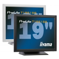 T1931SR-W1 LCD monitor - 19 - Touchscreen - 1280 x 1024 - TN - 200 cd/m2 - 900:1 - 5 ms - DVI-D, VGA - Speakers - White a