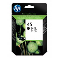 HP 45 - 51645AE - 1 x Black - Ink cartridge - For Deskjet 12XX, 99X, Officejet g55, g85, k60, R40, R60, R80, T45, T65, Officejet Pro 11XX a