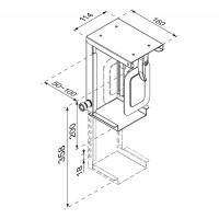 Newstar CPU Holder (height PC: 20-36 cm / width PC: 5-10 cm), Max 10kg, Black a