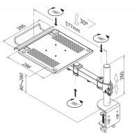 NewStar Notebook Swivel Arm heigth: 0-27 cm / depth: 30-60 cm a