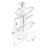 NewStar CPU Holder height PC: 39-54 cm / width PC: 13-23 cm a