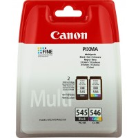 Canon PG-545 CL546 - 8287B006 - 1 x Black,1 x Cyan,1 x Magenta,1 x Yellow - Multipack - Blister with security - Ink Cartridge - For PIXMA iP2850,MG2450,MG2550,MG2555,MG2950,MG2950S,MX495 a