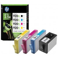 HP 920XL - C2N92AE - 1 x Black,1 x Cyan,1 x Magenta,1 x Yellow - 1 x Multipack- - Ink cartridge - High Yield - For Officejet 6000, 6500, 6500 E709a, 6500A, 6500A E710a, 7000, 7500A a
