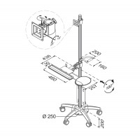 FLOOR STAND/TROLLEY 10-27IN KEY a