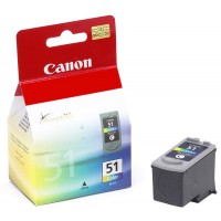 Canon CL-51 - 0618B001 - 1 x Cyan,1 x Magenta,1 x Yellow - Ink tank - For PIXMA iP6210,iP6220,iP6310,MP150,MP160,MP170,MP180,MP450,MP460,MX300,MX310 a