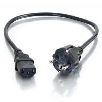 Universal Power Cable - IEC 320 EN 60320 C13 - CEE 7/7 (SCHUKO) (M) - 1m - moulded - Black - Europe a