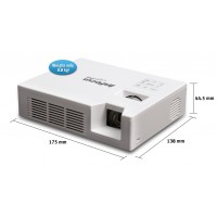 InFocus LightPro IN1146 Pocket Projector, 1.8 lbs (0.8 kg), WXGA (1280 x 800) resolution, 800 lumens, HDMI and VGA inputs, PC-less presentation via USB or SD card, Optional USB wireless connectivity, Built-in stereo speakers a