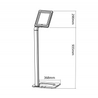 Newstar Tablet Floor Stand (universal for all tablets), Height 94-113cm, Max 5kg, Silver a