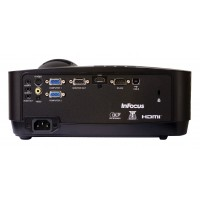 InFocus IN112x projector, DLP, SVGA (800 x 600) resolution, Up to 10000-hour lamp, 3000 lumens, Contrast ratio of 15000:1, 3D ready, HDMI connectivity along with VGA, USB Type B, composite, and S-video inputs, 6 Months Lamp Warranty a