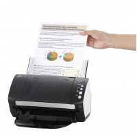 Fujitsu FI-7140 A4 Scanner. 40 ppm / 80 ipm @ 300dpi,  A4 FB + ADF for up to 80 sheets @ 80g/m2 , supports use of optional A3 Carrier Seet, paper protection mechanism, ScanSnap Manager for fi Series, Scanner Central Admin, ISIS, USB 2.0. Includes PaperStr
