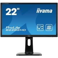 Iiyama ProLite B2282HD-B1 - LED monitor - 22 - 1920 x 1080 Full HD - TN - 250 cd/mІ - 1000:1 - 5 ms - DVI-D, VGA - black a