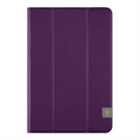 Belkin Tri-Fold Cover - Flip cover for tablet - purple a