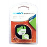 DYMO LetraTag Tape 12mm Paper White a